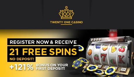 21 free spins no deposit bonus